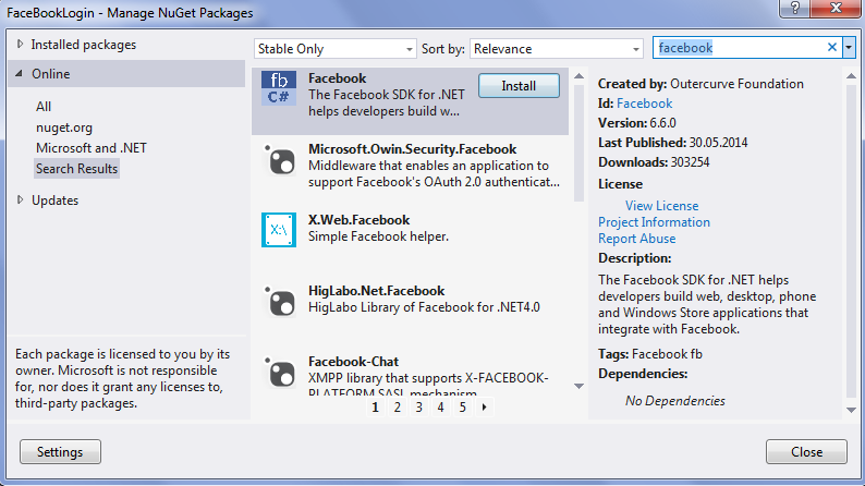 asp.net - facebook login 2