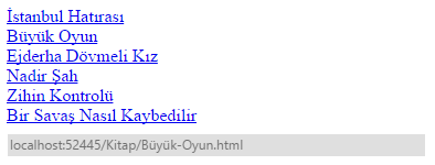 Asp.NET - URL Routing Mekanizması - 4