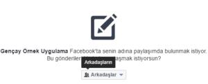 Asp.NET MVC İle Facebook'a Post Etme