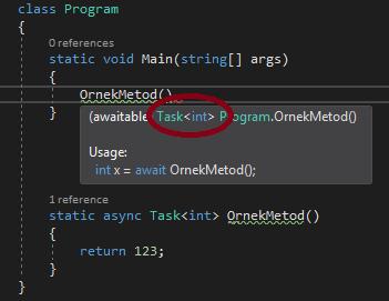 C#'ta Task.FromResult Metodu