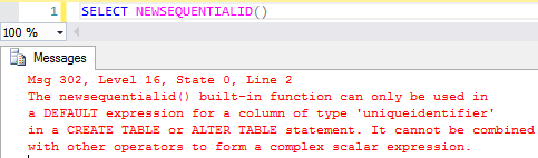 SQL Server'da NewsequentialID Özelliği