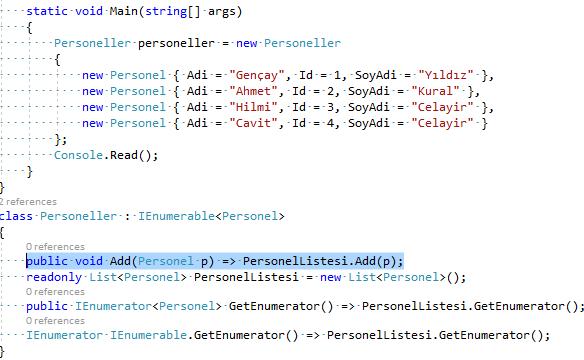 C# – Custom Collection Initializers Yapılarında Add Metodunu Extension Metod Yapısıyla Yönlendirme