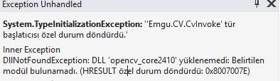 EmguCV - Projeye Entegrasyonu ve Kamera Görüntüsü Alma