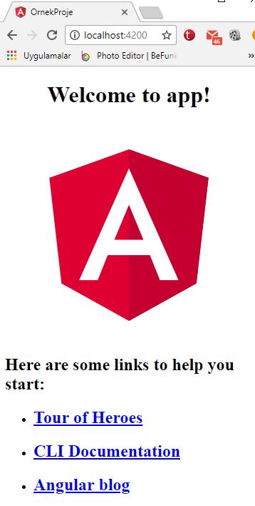 Angular 4 - Oluşturulan Projeyi Visual Studio Code İle Açmak ve Yayına Almak