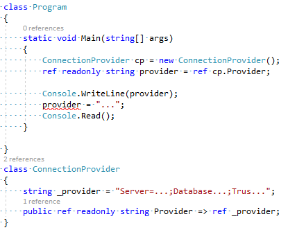 C# 7.2 - Ref Readonly Returns