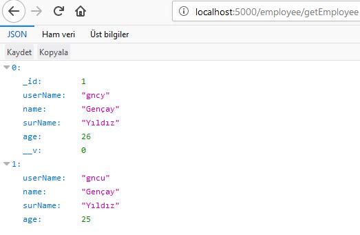 Node.js - MongoDB CRUD İşlemleri
