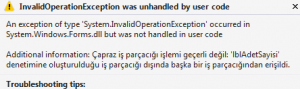 InvalidOperationException