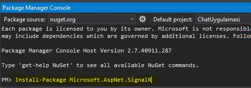 Asp.NET MVC 5 SignalR Chat Uygulaması 2