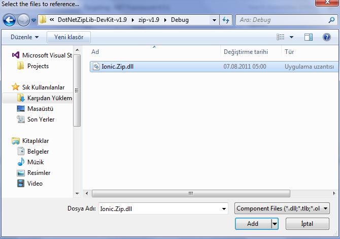 C# DotNetZip ile sıkıştırma 4