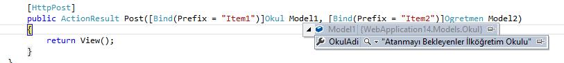 Asp.NET MVC - Bir View'da Tuple İle Çoklu Model Kullanımı - 2