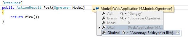 Asp.NET MVC - Bir View'da Tuple İle Çoklu Model Kullanımı