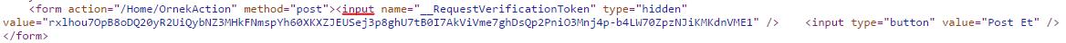 Asp.NET MVC'de CSRF-XSRF(Cross-Site Request Forgery) Saldırı Güvenliği