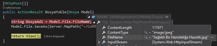 Asp.NET MVC'de Ajax İle Dosya Yükleme
