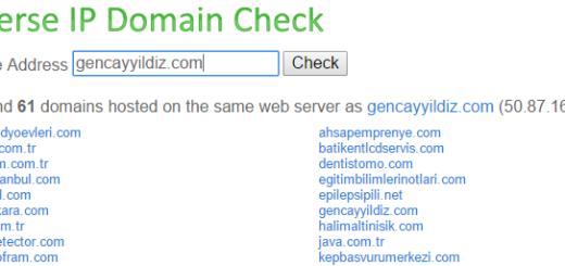 yougetsignal.com Sitesinin Nimetleri