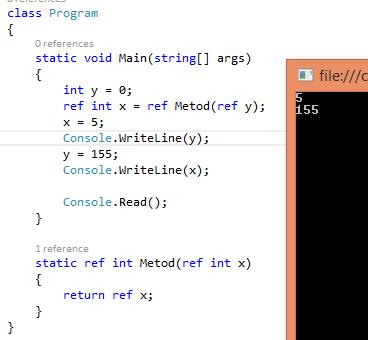 C# 7.0 – Ref Returns