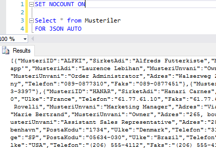 SQL Server 2016 - Native JSON