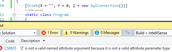 "C# Attribute Yapılarında ""'X' Is Not A Valid Named Attribute Argument Because It Is Not A Valid Attribute Parameter Type"" Hatası ve Çözümü"