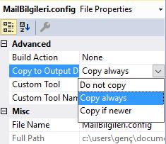 .NET'te Config Dosyasını Harici Kaynakla Beslemek
