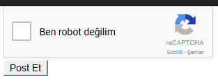 Asp.NET MVC'de reCAPTCHA Entegrasyonu