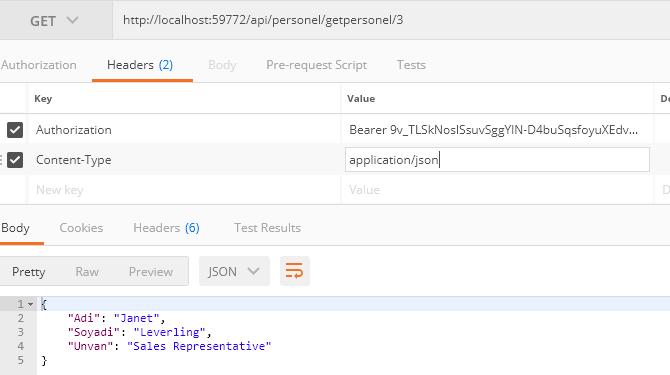Asp.NET MVC - Web Api Token Authentication