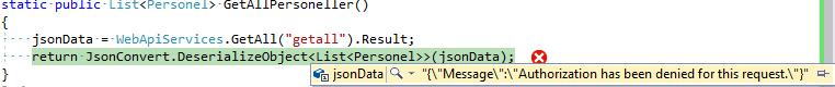 C# İle Token Authentication Uygulanan Web API Tetikleme