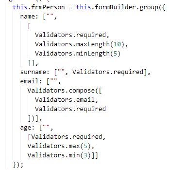 Angular 7 - Reactive Forms