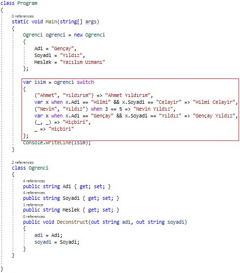 C# 8.0 - Switch Expression(Property - Tuple - Positional Patterns)