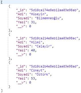 MongoDB - Karşılaştırma Sorgu Operatörleri