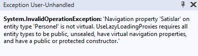Entity Framework Core - Lazy Loading