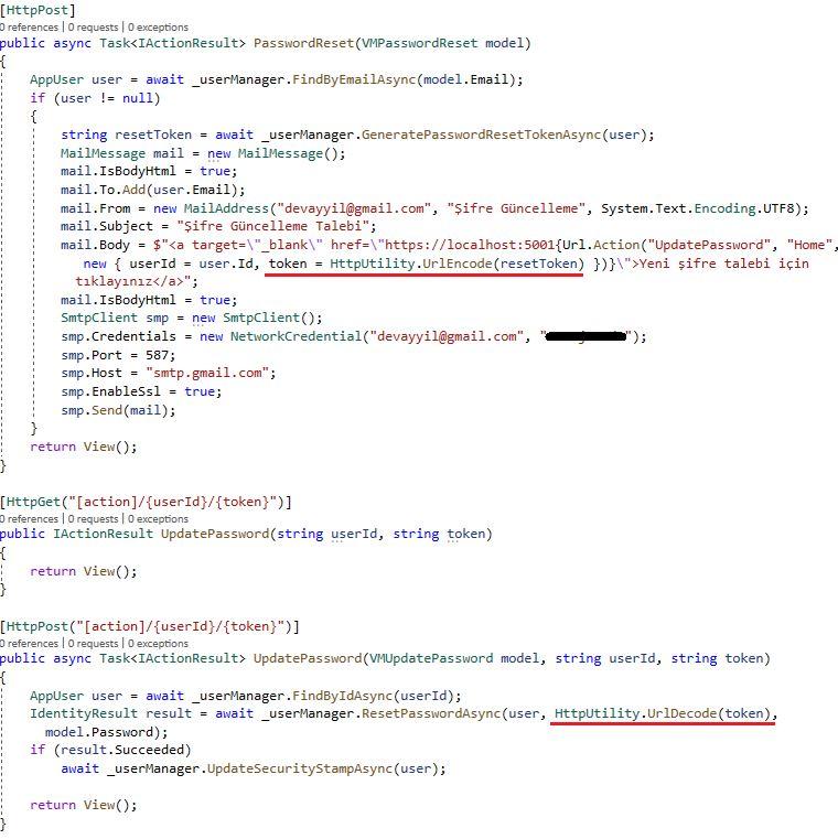 Asp.NET Core Identity - Invalid Token Hatası ve Çözümü
