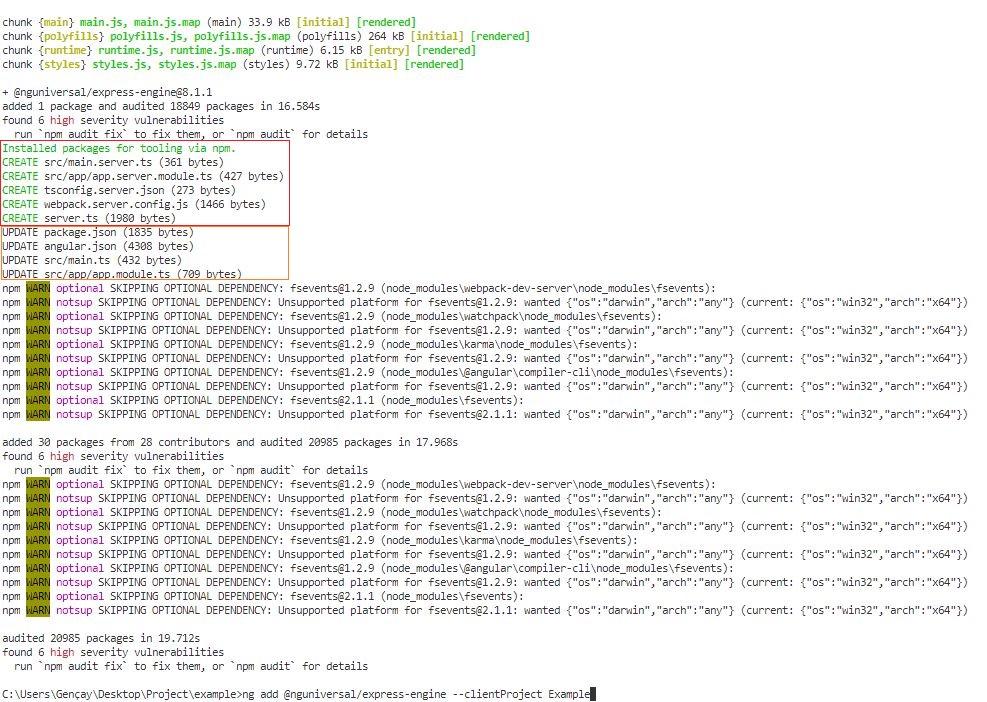 Angular 8'de Angular Universal İle Server-Side Rendering (SSR)