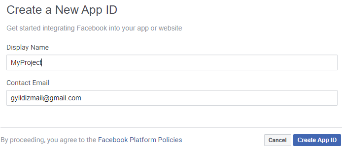 Asp.NET Core Identity - Facebook Login