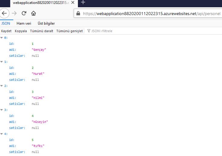 Azure'da Entity Framework Core İle Migration İşlemleri