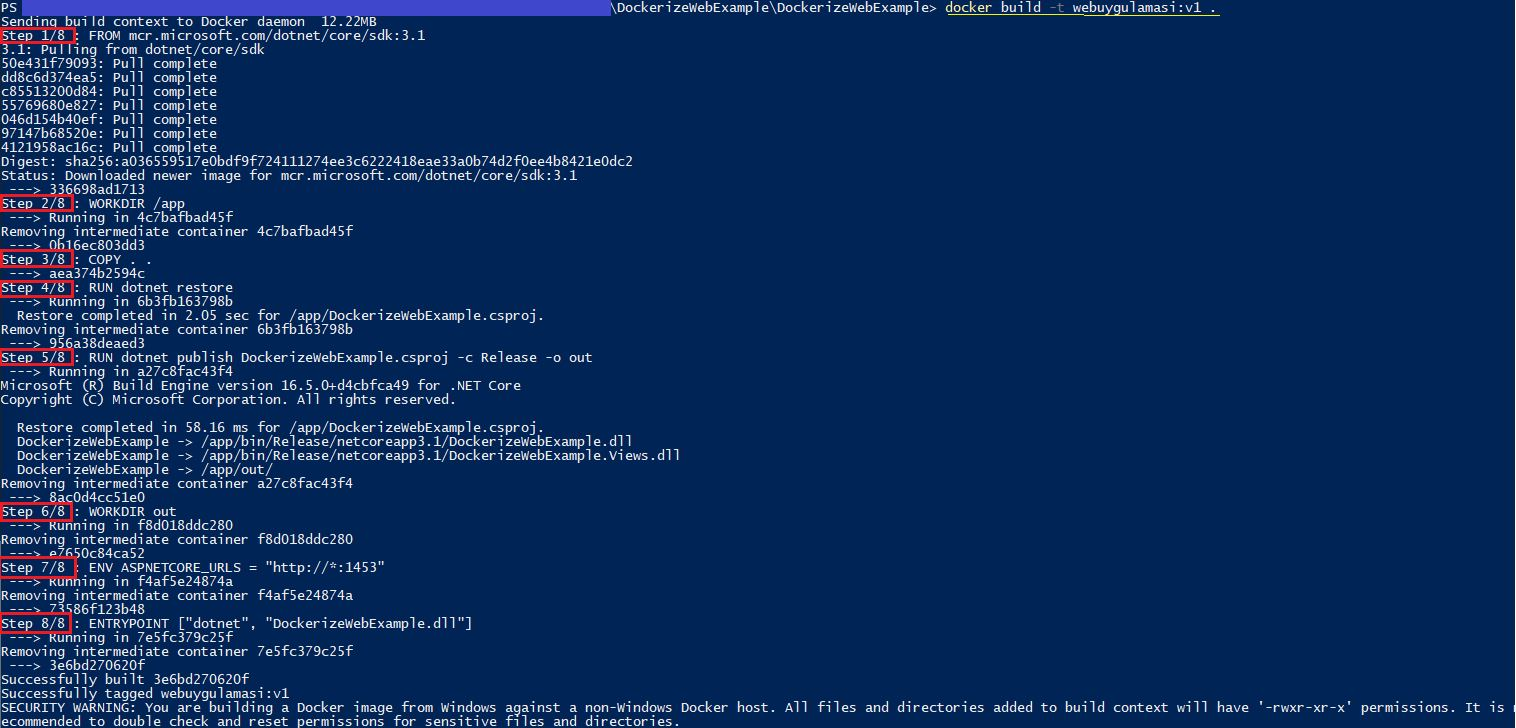 Asp.NET Core Uygulamasını Dockerize Etmek