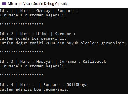 .NET Core - FluentValidation İle Validasyon Kontrolü