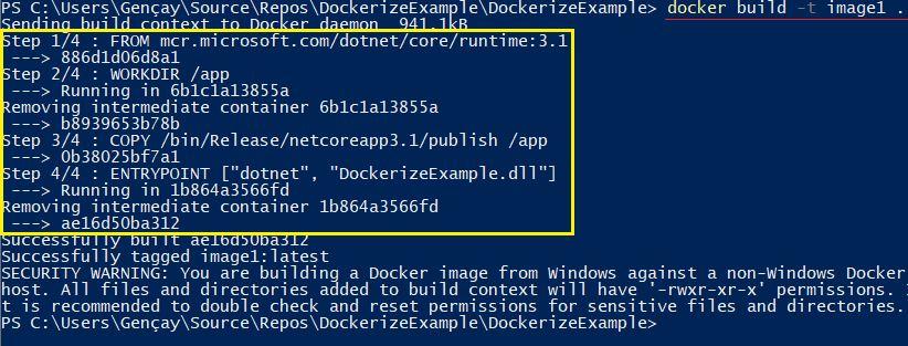 .NET Core Uygulamasını Dockerize Etmek - Docker Image Nasıl Oluşturulur?