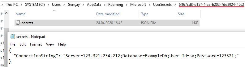 Asp.NET Core - Hassas Verilerin Korunması(Secret Manager Tool)