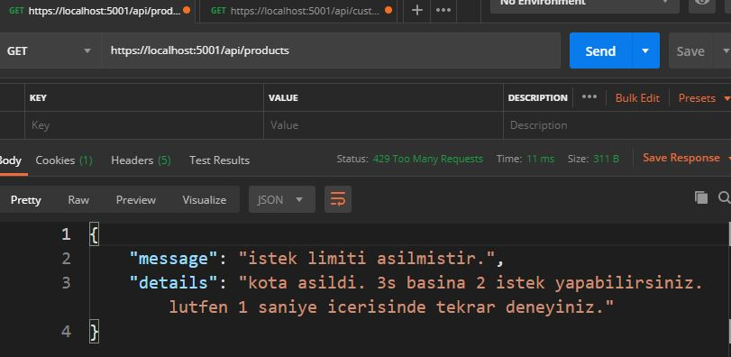 Asp.NET Core - Rate Limit İle API Güvencesi Sağlama
