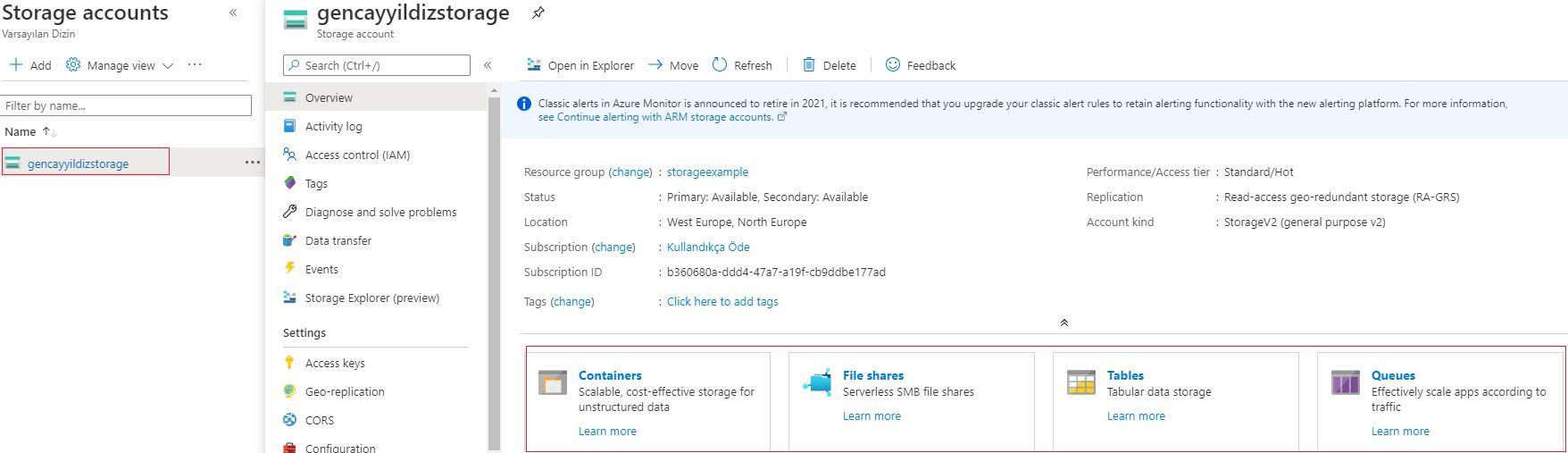 Azure Storage Serisi #2 – Azure Storage Account'u Nasıl Oluşturulur?