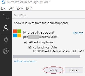 Azure Storage Serisi #4 - Azure Storage Explorer