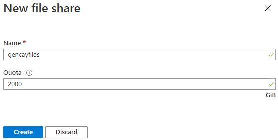 Azure Storage Serisi #5 - Azure File Storage