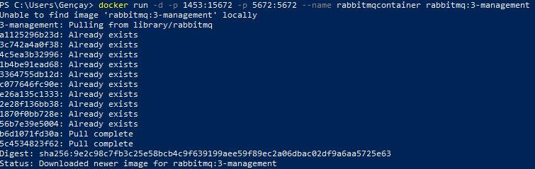 Docker'da RabbitMQ Ayağa Kaldırma