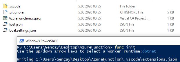 Azure Functions Serisi #6 – Azure Function Core Tool İle Azure Function Oluşturma