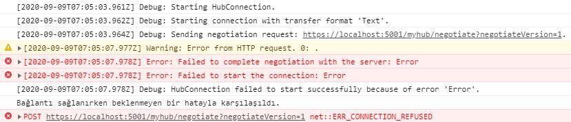 Asp.NET Core - SignalR Serisi #4 - SignalR Log Seviyeleri