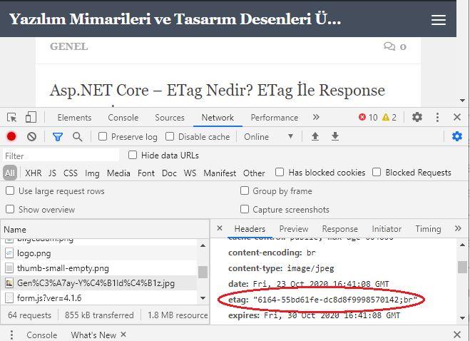 Asp.NET Core - ETag Nedir? ETag İle Response Caching İşlemi Nasıl Gerçekleştirilir?
